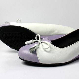 Sweet purple wedge heel