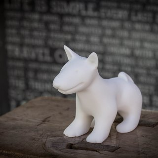 Intelligent Bull Terrier - Dogs modeling stone
