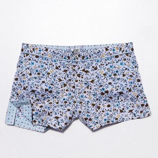 Blue small floral cute little shorts