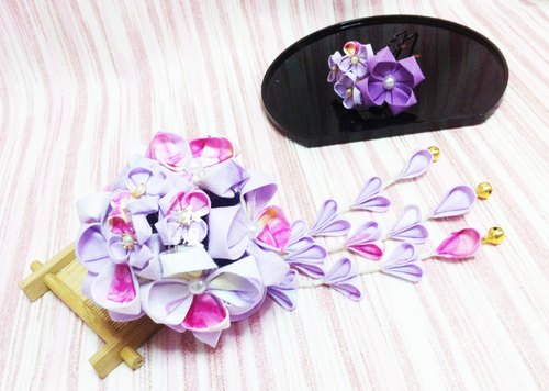 Hand-made second-generation Japanese hydrangea flower head piece fitted Bob Bob Sen female retro bridal kimono yukata wind COS Accessories