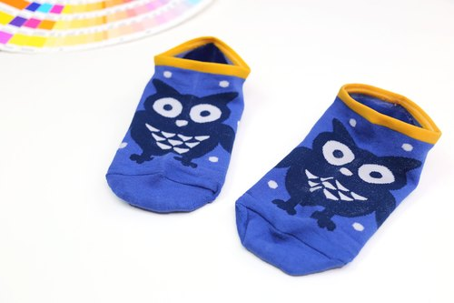 [] HARPER toes on the dance silicone slip invisible socks - sapphire blue owl