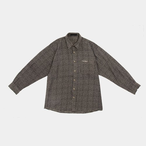 │moderato│ British retro plaid vintage retro shirt │ Forest. England. Art youth