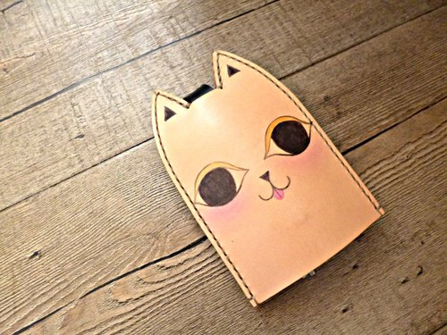 POPO│ pet cat large capacity │ │ positive Leather Wallets