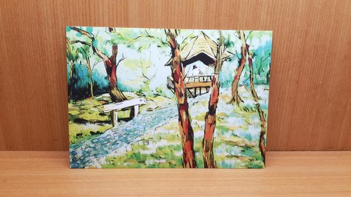 Bonnie painted picture postcards