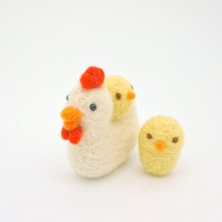 Wool felt dolls - Chick paternity group