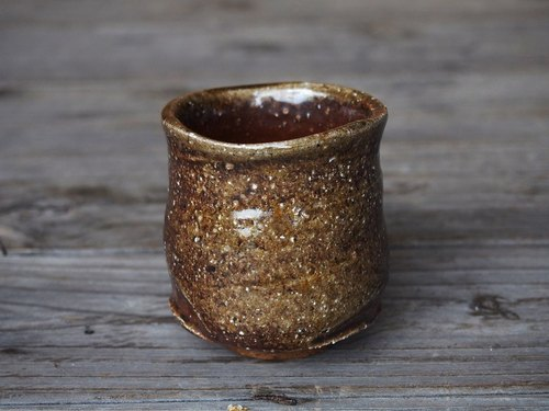 Bizen cup (small) [sesame-wave] y003-1