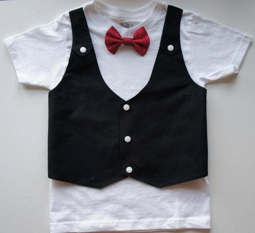 Tuxedos Boy Suit-Boy suit T-Shirt