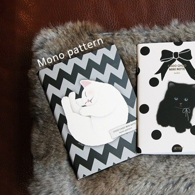 JETOY, sweet cat portable notebook (bar 64p) _Mono pattern (J1512201)