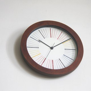 Rainbow Wood Wall Clock
