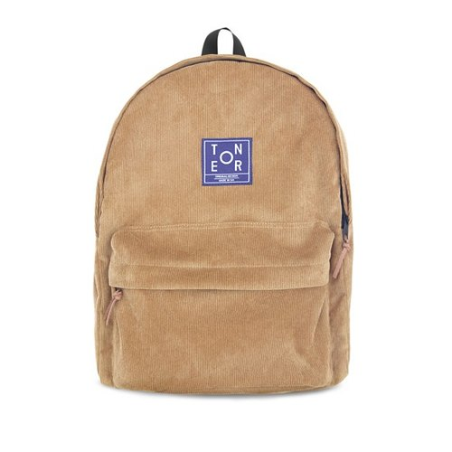 | 034 | After the original design art retro khaki corduroy backpack