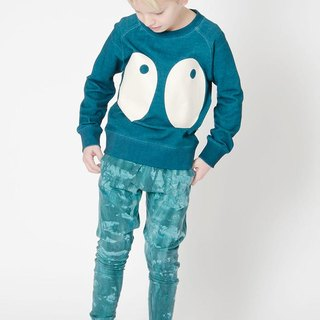 Nordic children's clothing organic cotton big eyes children's tops