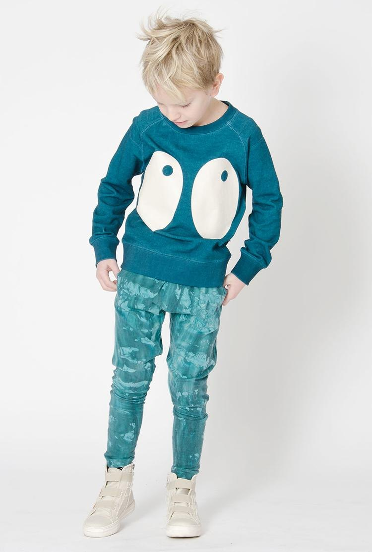 [Nordic children's wear] Swedish organic cotton big eye shirt