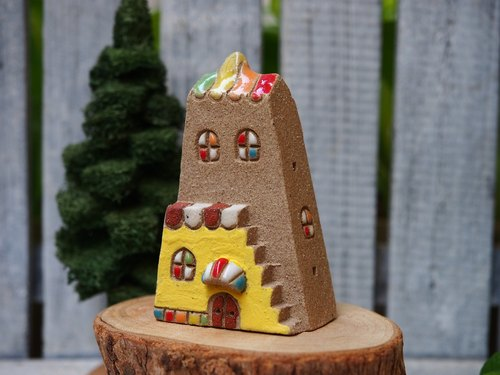 [Rainbow Village Rainbow Village] - super cute hand-made pottery Rainbow Cottage