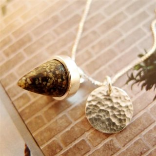 Pepper spices series --- + English name Silver Necklace