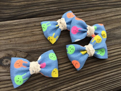 0716 denim color rabbit hairpin