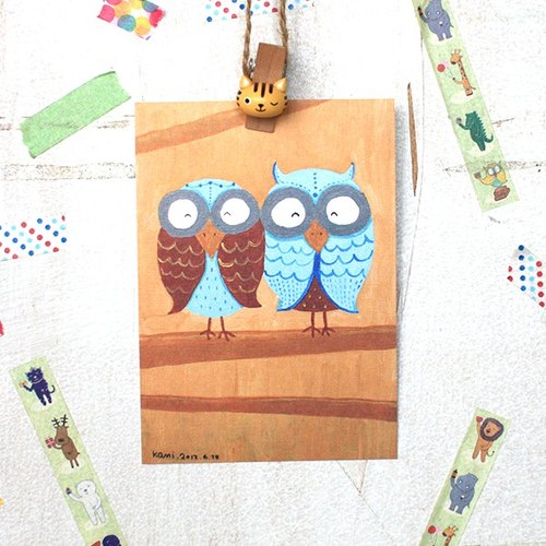 Postcard | Couple owl