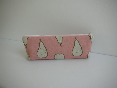 bagme pears pattern cotton (pink) - Pencil / 000 packets / debris bag