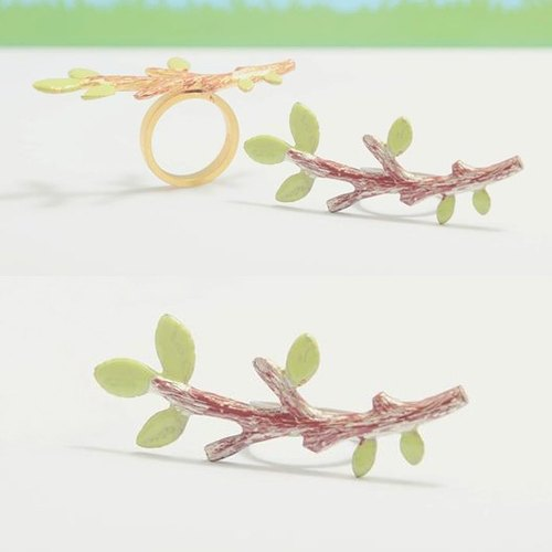 Twig Ring, Tree Branch Ring, Branch Ring, Leaf Ring, Tree Ring