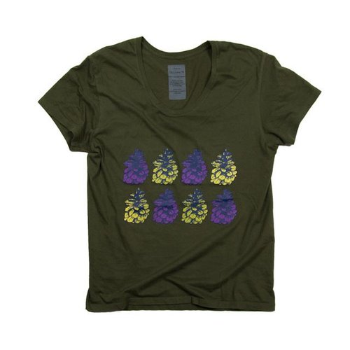 Unisex pine cones illustrations T-shirt Tcollector