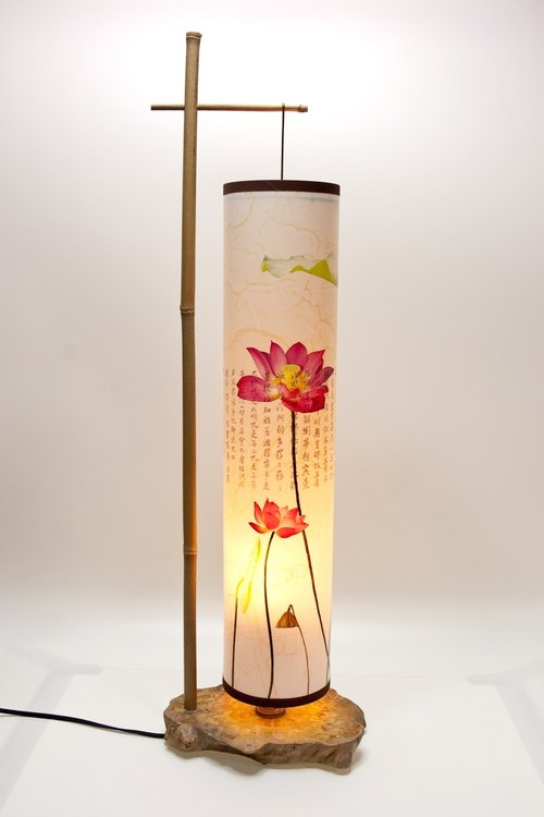 Lotus Sutra Table Lamps (Japanese style), table lamp in vintage
