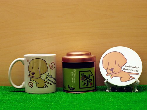 """Father Tea X NONCOOL"" Dog series - Labrador * cream. Tea gift"