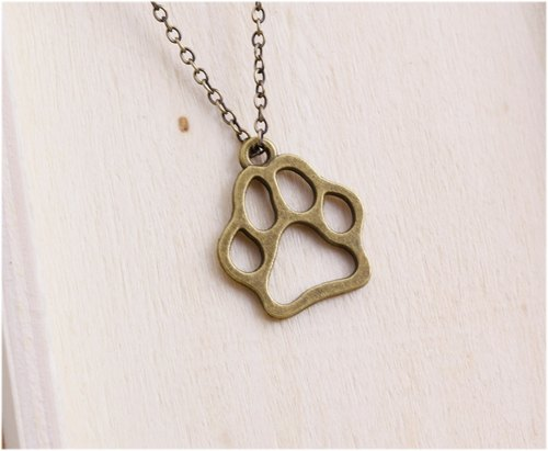 Dog footprints necklace