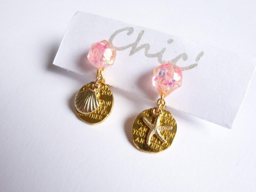 Chic '[earrings Starfish and shell]