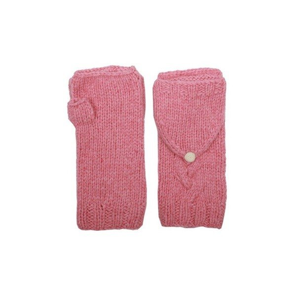 Hooded Mittens / pink