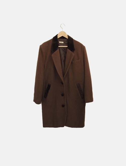 Wahr_ coffee no long coat jacket