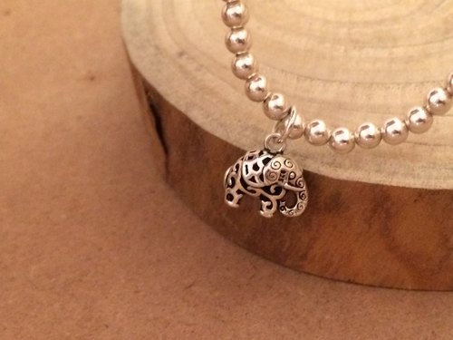 Sterling silver beads elephant