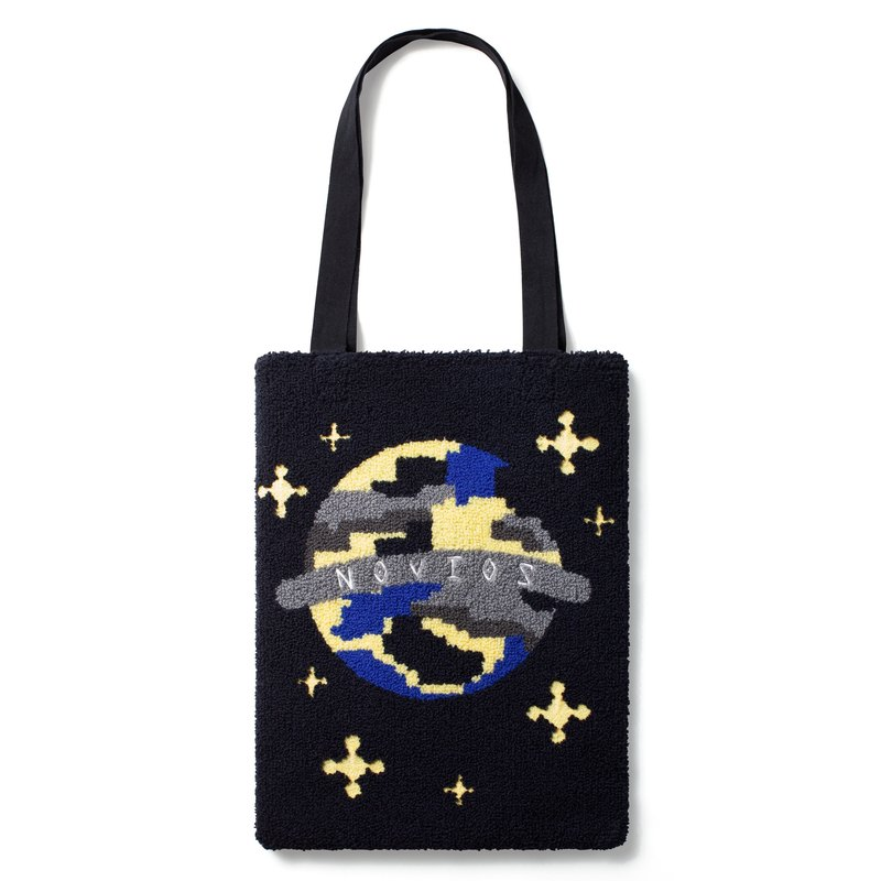 Planet Embroidery tote bag