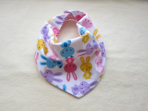 Color bunnies baby - baby baby cotton triangle bibs, scarves