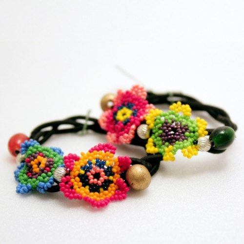 ☆ saibaba ethnique // beaded flower hair ring ☆