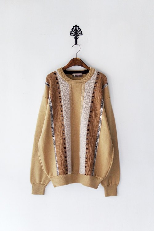 Banana Flyin '| Vintage | 3D woven pure wool pullover