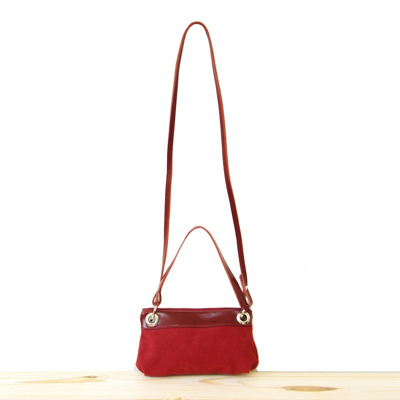 ae9dbbc3e4  Happa anniversary celebration of the whole museum 9 fold  Hand   oblique  dual-use portable bag - stone wash canvas classic (Wine red wine red)  exchange ...