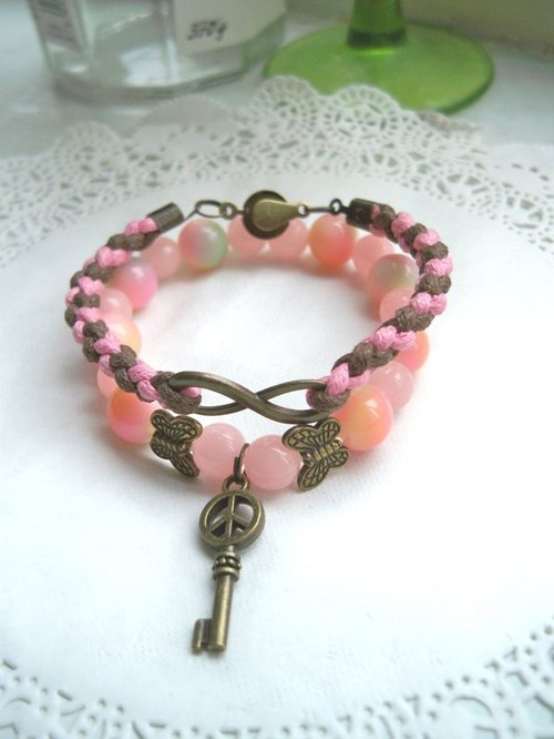 Luminous peach bracelet - Pink -2 article