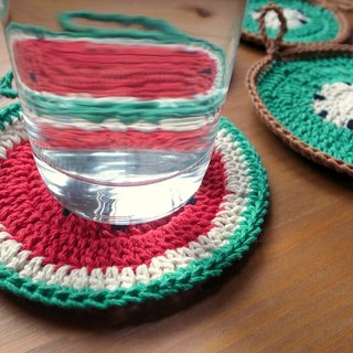 Watermelon sweet coaster - large