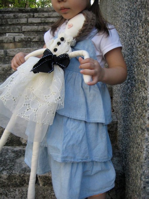 White lace dress couture doll
