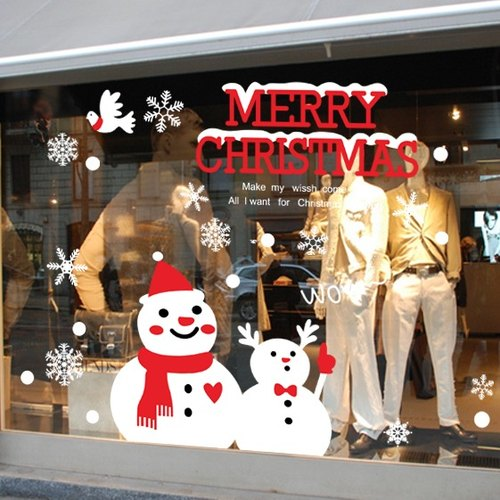 ★ context trace static stickers creative stickers glass adherent ★ snowman # AMJ005