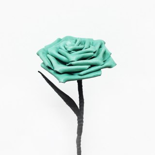 Leather lake green roses Tiffany Blue Leather Rose