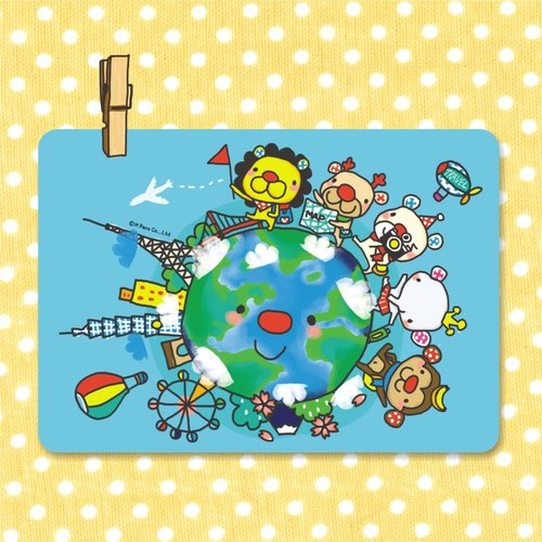 """Balloon"" Postcard - Around the World"