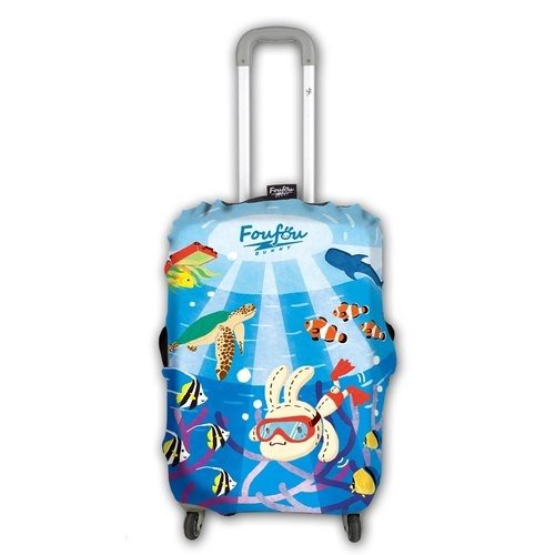 """Foufou"" colorful luggage sets v.2 - Under The Sea (L)"