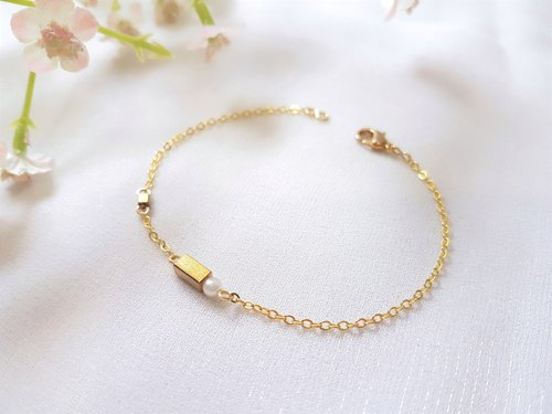 Moment of aesthetics ‧ brass pearl fine bracelet