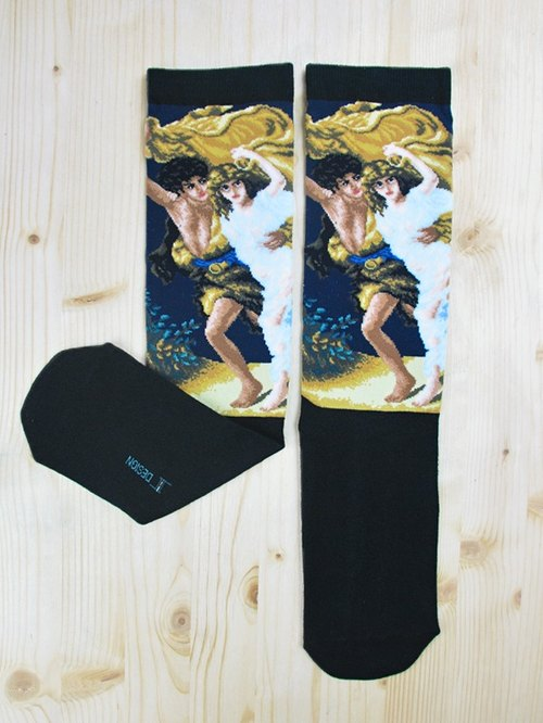 JHJ Design Canadian brand of high saturation knitting socks paintings series - Storm Socks (knitted socks)