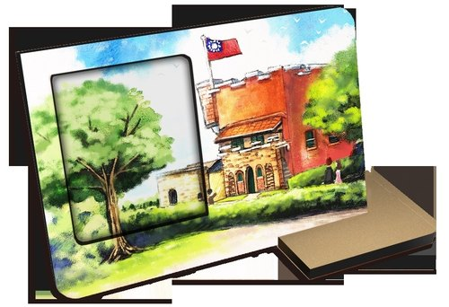 Taiwan Series ~ Hongmaocheng ~ 30 seconds sound and light recording card postcard can record photo frames photo attractions with hands souvenirs