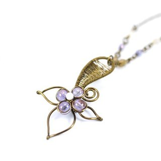 Yang purple leaf necklace