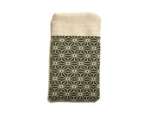 Phone sets olive green Asanoha