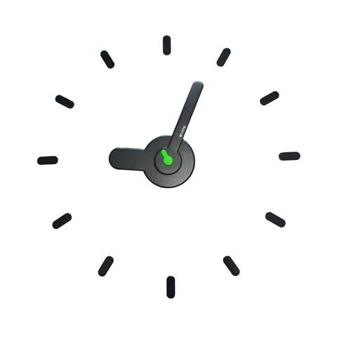 【On-Time Wall Clock】牆上貼・時計 [Dark Green]
