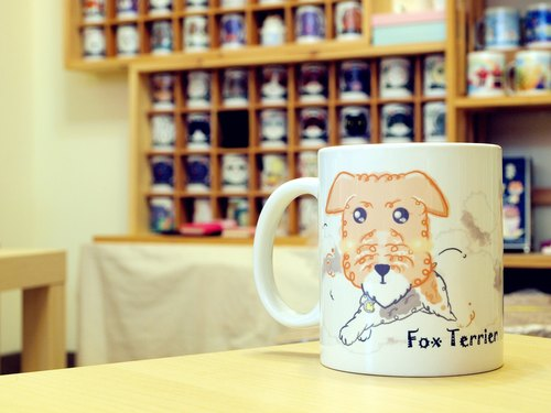 """NONCOOL‧ Cool farming"" Terrier. Mug / straight cup (300ml)"