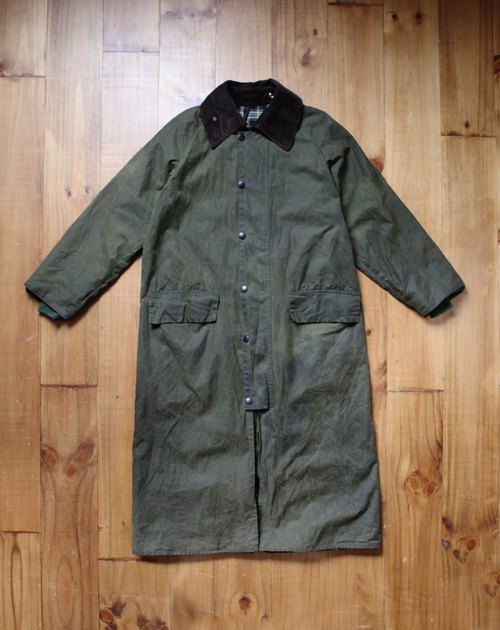 Rolling on [vintage] CJ-3312 Barbour burghley綠色長版外套